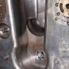 Bakstycke inuti kanontornet med stämpel från Borsig Metall i Düsseldorf