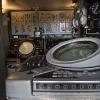Interiör i operatörsvagn för luftbevakning