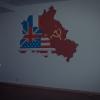 Väggmålning i amerikansk lokal.