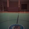 Berlin Braves-emblem i sporthallen.