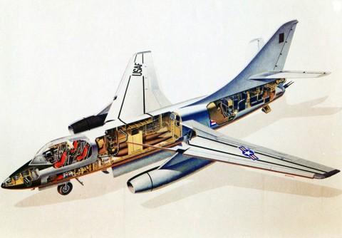 Sprängskiss över RB-66B. Bild via USAF.