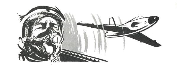 Illustration ur Flygsoldatens bok 1964.