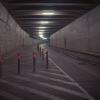 Underjordisk järnvägstunnel.