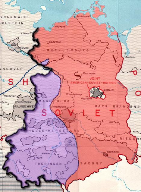 östtyskland karta Vägen till Checkpoint Bravo | Kalla krigets historia östtyskland karta